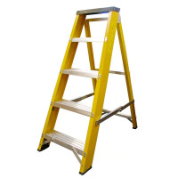 Heavy Duty EN131-2 Professional Glassfibre Swingback Stepladder with Step 5 Tread