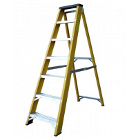 Lyte Heavy Duty EN131-2 Professional Glassfibre Swingback Stepladder with Step 7 Tread