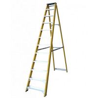 Lyte NGFBB12 Heavy Duty EN131-2 Glassfibre Swingback Stepladder Step 12 Tread
