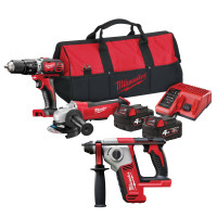 Milwaukee M18 BPP20 Triple Pack 18V 2 x 4.0Ah Li-ion Batteries