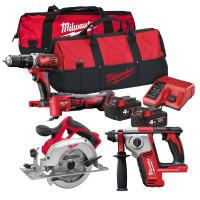 Milwaukee M18 BPP2P-18V Quad Pack 2 x 4.0Ah Li-ion Batteries