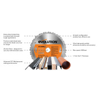 Evolution RAGE3-S+ Self Assembly Multi-Purpose Sliding Mitre Saw