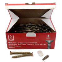 N-Durance Torx Concrete Frame Screws 7.5 x 72mm (100 Box)