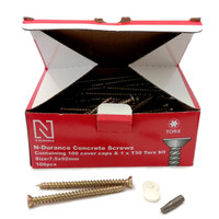 N-Durance Torx Concrete Frame Screws 7.5 x 92mm (100 Box)