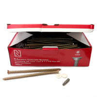 N-Durance Torx Concrete Frame Screws 7.5 x 152mm (100 Box)