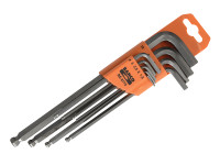 Bahco BAH9770 Hexagon Key Set of 9 Metric (1.5-10mm) | Toolden