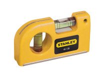 Stanley STA042130 Magnetic Horizontal / Vertical Pocket Level | Toolden