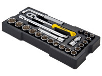 Stanley STA174726 1/2in Drive 12 Point Metric Socket Module 23 Piece | Toolden