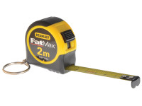 Stanley STA133856 Key Ring Tape 2m (Width 13mm) | Toolden