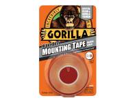 Gorilla Glue GRGGTHDDSMT Gorilla Heavy-Duty Double Sided Clear Mounting Tape 25.4mm x 1.52m | Toolden