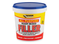 Everbuild EVBRMFILL1 All Purpose Ready Mixed Filler 1kg | Toolden