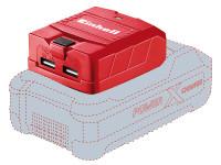 Einhell EINTECP18LI TE-CP 18 LI USB-Solo Power X-Change Battery Adaptor 18V Li-Ion | Toolden