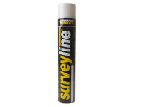 Everbuild EVBSURVEYWH Surveyline Marker Spray White 700ml | Toolden