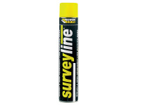 Everbuild EVBSURVEYYE Surveyline Marker Spray Yellow 700ml | Toolden