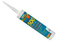 Everbuild EVB500CL 500 Bath & Sanitary Silicone Sealant Translucent 290ml | Toolden