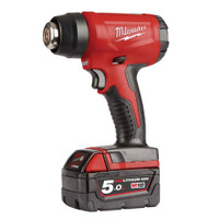 Milwaukee MILM18BHG5 M18 BHG-502 Cordless Heat Gun 18V 2 x 5.0Ah Li-ion | Toolden
