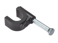 ForgeFix FORRCC67B Cable Clip Round Coax Black 6-7mm Box 100 | Toolden