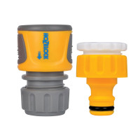 Hozelock HOZ2071 Threaded Tap & Soft Touch Hose End Connector Set  | Toolden