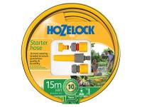 Hozelock HOZ72159000 Starter Hose Starter Set 15m 12.5mm (1/2in) Diameter | Toolden