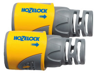 Hozelock HOZ2050AV 2050 Hose End Connector Plus for 12.5-15mm (1/2-5/8in) Hose Twin Pack | Toolden
