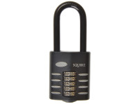 Henry Squire HSQCP6025 CP60/2.5 Combination Padlock 5-Wheel 60mm Extra Long Shackle 63mm | Toolden