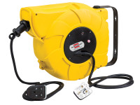 Brennenstuhl BRE003300 Automatic Cable Reel 240 Volt 16+2 Metre 13 Amp Safety Cut Out | Toolden