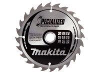 Makita MAKB09173 B-09173 Specialized Wood Blade for Cordless Saws 165 x 20mm x 24T | Toolden