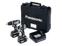 Panasonic PANC201LS2G EYC201LS2G Drill & Impact Wrench Twin Pack 14/18V 2 x 4.2Ah Li-ion | Toolden