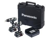 Panasonic PANC211LS2F3 EYC211LS2F Drill & Impact Wrench Twin Pack 14.4V 2 x 4.2Ah Li-ion | Toolden