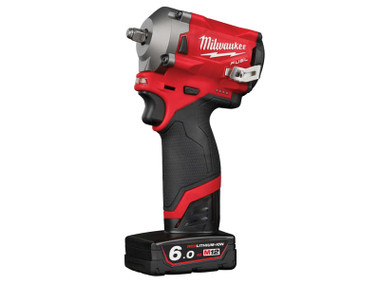 MilwaukeeM12 FIW38-622X FUEL™ Impact Wrench Kit 12V 1 x 2.0Ah & 1 x 6.0Ah Li-ion