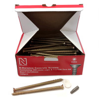 N-Durance Torx Concrete Frame Screws 7.5 x 132mm (100 Box)