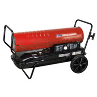 Sealey AB1258 Space Warmer Paraffin/Kerosene/Diesel Heater 125,000Btu/hr with Wheels