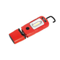 Sealey LED3601R Rechargeable 360° Inspection Lamp 3W COB + 1W LED Red Lithium-Polymer