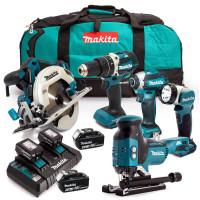 Makita LXT 18v 5 Piece Kit 4 x 5.0ah Batteries