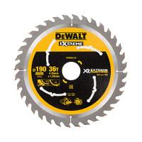 Dewalt DT99563 XR Extreme Runtime Circular Saw Blade 190mm x 30mm x 36T