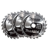 Makita B-09167 165mm x 20mm x 24T Specialized Circular Saw Blade 3 Pack