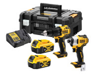Dewalt DCK2062M2T Brushless Twin Pack With 2 x 4AH Batteries | Toolden