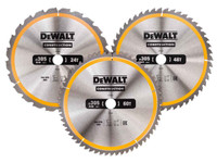 Dewalt DT1964 Construction Circular Saw Blade 3 Pack 305 x 30mm x 24T/48T/60T (DT1964)| Toolden