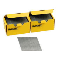 DeWalt DNBA1638GZ 16G 38mm Angled Galvanised 2nd Fix Nails 2 Boxes 5000pk