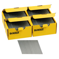 DeWalt DNBA1638GZ 16G 38mm Angled Galvanised 2nd Fix Nails 4 Boxes 10000pk
