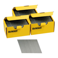 DeWalt DNBA1644GZ 16G 44mm Angled Galvanised 2nd Fix Nails 3 Boxes 7500pk