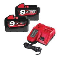Milwaukee M18NRG-902 18v 2 x 9.0Ah Li-Ion Batteries Energy Pack