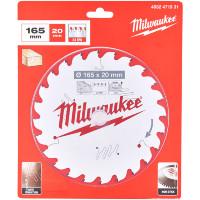 Milwaukee 4932471931 165mm 20B 24T TCT Circular Saw Blade
