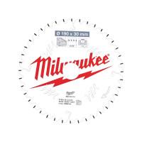 Milwaukee 4932471314 TCT Circular Saw Blade MS W 190x30x24x40ATB Neg.