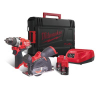 Milwaukee M12FPP2F-202X 12v Combi/Cut-off Saw with 2x2ah Batteries