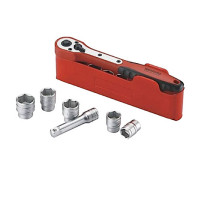 Teng Basic Socket Set of 13 Pieces 1/4in Drive