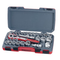 Teng T1230 1/2in MM/AF 30 Pieces Drive Socket Set