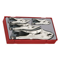 Teng Tools TTVG05 5 Piece Power Grip Plier Set