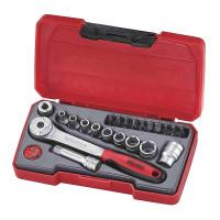 Teng Tools T1422 1/4in MM 22 Pieces Drive Socket Set