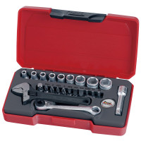 "Teng Tools T1423 23 Piece 1/4""in MM Drive Socket Set"